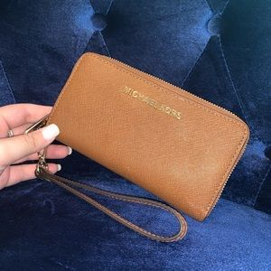 Brown Michael Kors Wallet/Wristlet